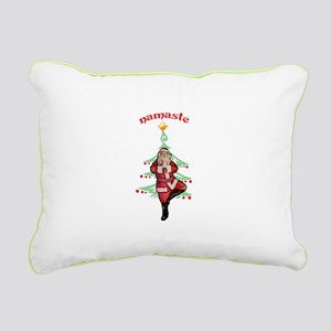 Santa Tree Pose Rectangular Canvas Pillow