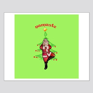 Santa Tree Pose Small Poster