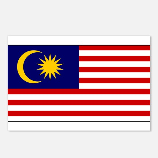 Malaysia - National Flag - Current Postcards (Pack