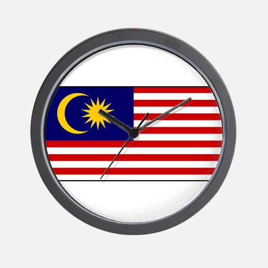 Malaysia - National Flag - Current Wall Clock