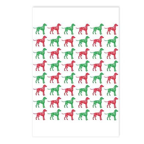 Dalmatian Christmas or Holiday Silhouettes Postcar