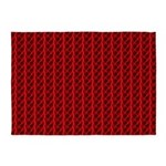 Red Lightning Look 5'x7'Area Rug
