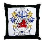 Craiggie Coat of Arms Throw Pillow