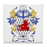 Craiggie Coat of Arms Tile Coaster