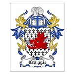 Craiggie Coat of Arms Small Poster
