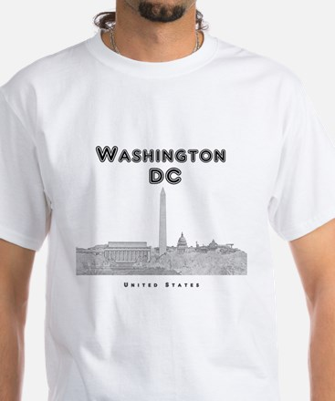 Washington DC White T-Shirt