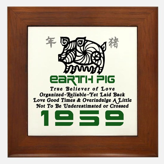 Earth Pig 1959 Framed Tile
