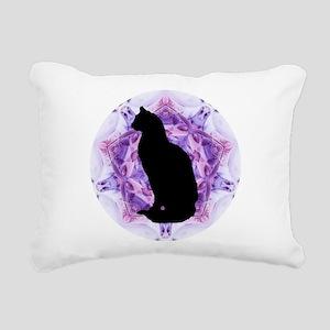 Kaleidoscope Cat Rectangular Canvas Pillow