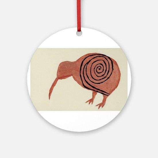 Kiwi Bird Fern Design Ornament (Round)