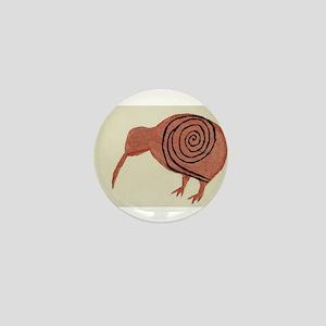Kiwi Bird Fern Design Mini Button