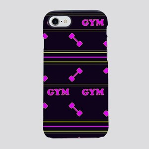 Gym sport design with dumbbell iPhone 7 Tough Case