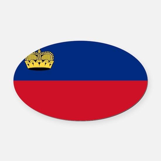 Liechtenstein - National Flag - Current Oval Car M