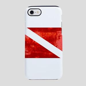 Distressed Dive Flag iPhone 7 Tough Case