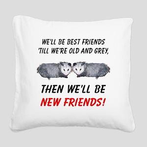 bestfriends5 Square Canvas Pillow