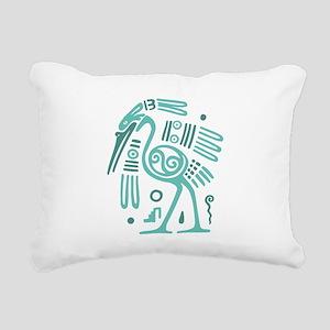 Tribal Crane Rectangular Canvas Pillow