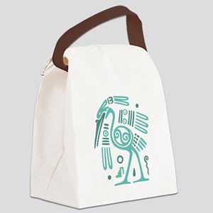 Tribal Crane Canvas Lunch Bag