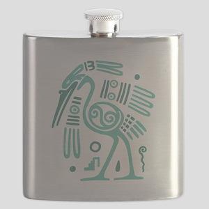 Tribal Crane Flask
