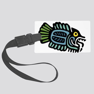 Tribal Fish Large Luggage Tag
