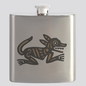 Tribal Dog Flask