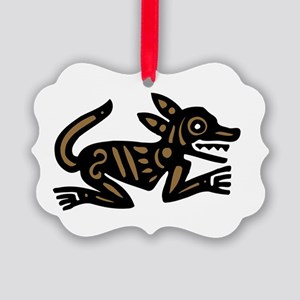 Tribal Dog Picture Ornament