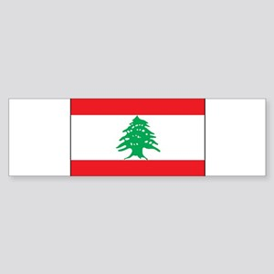 Lebanon - National Flag - Current Sticker (Bumper)