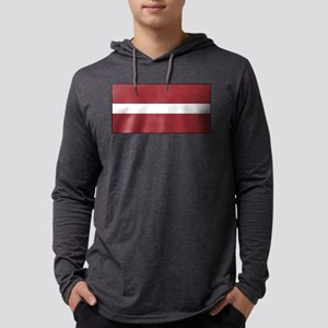 Latvia - National Flag - Current Mens Hooded Shirt