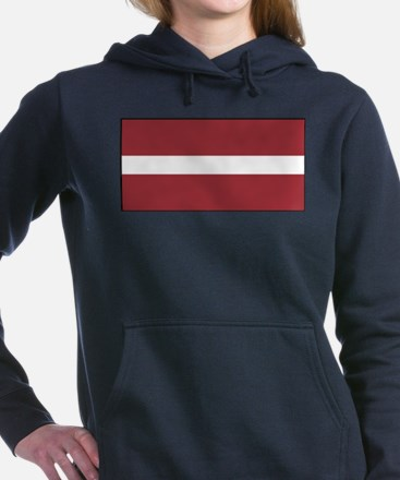 Latvia - National Flag - Current Women's Hooded Sw