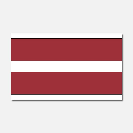 Latvia - National Flag - Current Car Magnet 20 x 1