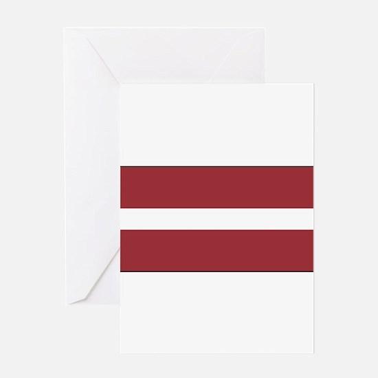 Latvia - National Flag - Current Greeting Card
