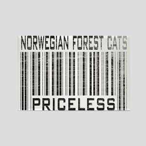 Norwegian Forest Cats Priceless Rectangle Magnet