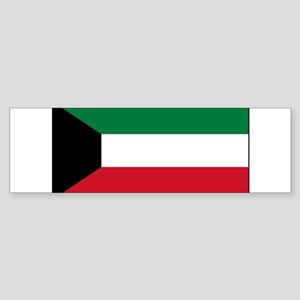Kuwait - National Flag - Current Sticker (Bumper)
