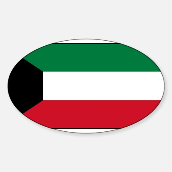 Kuwait - National Flag - Current Sticker (Oval)