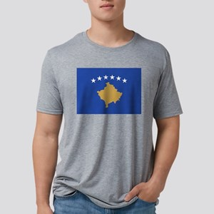 Kosovo - National Flag - Current Mens Tri-blend T-