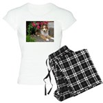 Puppy in the Roses Women's Light Pajamas