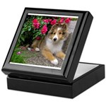 Puppy in the Roses Keepsake Box