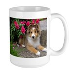 Puppy in the Roses Large Mug