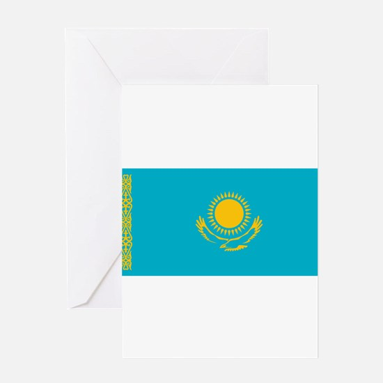 Kazakhstan - National Flag - Current Greeting Card