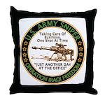 Army Sniper Custom Logo Throw Pillow