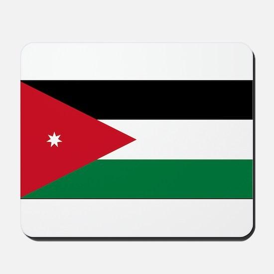 Jordan - National Flag - Current Mousepad