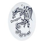 Tribal Dragon Ornament (Oval)