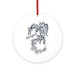 Tribal Dragon Ornament (Round)