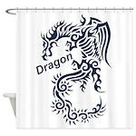 Tribal Dragon Shower Curtain