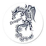 Tribal Dragon Round Car Magnet