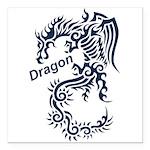 Tribal Dragon Square Car Magnet 3