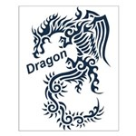 Tribal Dragon Small Poster