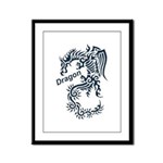 Tribal Dragon Framed Panel Print