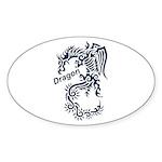 Tribal Dragon Sticker (Oval 10 pk)