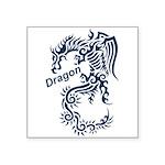 Tribal Dragon Square Sticker 3