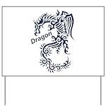 Tribal Dragon Yard Sign