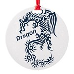 Tribal Dragon Round Ornament